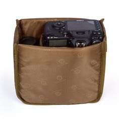 Camera Insert Dslr Insert Camera Case 8.6'' 8.6'' 4.3 '' Flexible Partition Protective Bag For all Cameras (Brown)