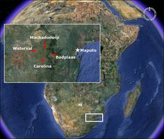 Something amazing has been discovered in an area of South Africa, about 150 miles inland, west of the port of Maputo. It is the remains of a huge metropolis that measures, in conservative estimates, about 1500 square miles. It's part of an even larger community that is about 10,000 square miles and appears to have been constructed -- are you ready -- from 160,000 to 200,000 BCE!