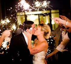 Really want sparklers for exit!