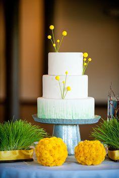 Whimsical yellow cake