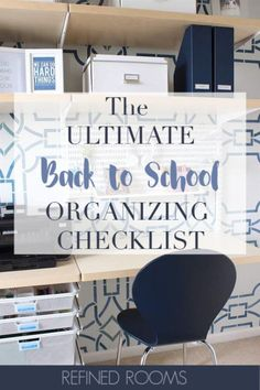 Set your kids up for success with this Back to School Organization Checklist -- 10 things you need to do NOW so they can ROCK the new school year! Back To School Organization, Back To School Hacks, Life Organization, Organize Your Life, Organizing Your Home, Organize Kids, Organizing Tips, The New School, New School Year