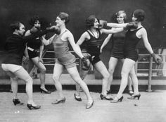 Women boxing c.1920's. Always in heels.