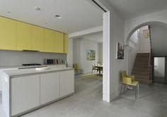 Concrete interior to Georgian house