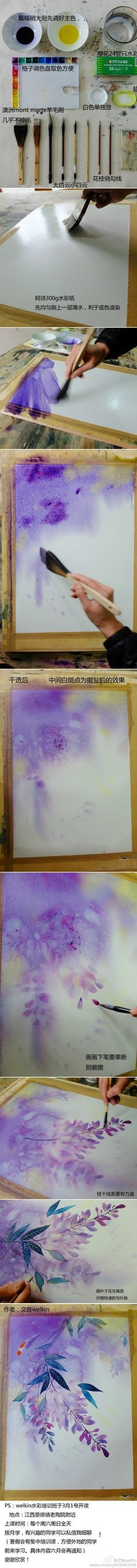 Step-by-step watercolour.......