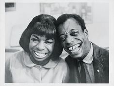 Simone with James Baldwin in the early sixties. Her intelligence and restless force attracted African-American culture's finest minds.