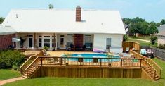 Above Ground Pool Ideas - In the summer, people like spending few hours in the swimming pool. However, you may hate the way your above ground pool looks in your backyard. Above Ground Swimming Pools, Swimming Pools Backyard, In Ground Pools, Patio Plan, Pool Deck Plans, Pool With Deck, Above Ground Pool Landscaping, Backyard Pool Landscaping, Landscaping Ideas