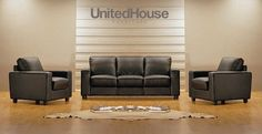 Upholstered in soft luxurious leather on all rest and seating areas