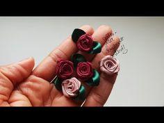 Flor Rococó, 2 formas de finalizar - YouTube Ribbon Hair Bows, Diy Ribbon, Ribbon Crafts, Grosgrain Ribbon, Fabric Crafts, Dry Leaf Art, Hand Embroidery Flowers, Flower Video, Freeform Crochet