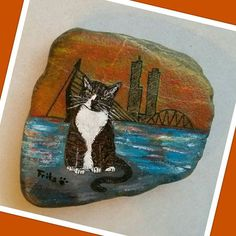 Frits was the cat of my sister @mariska.belder , he was sick and passed away a couple of weeks ago... so i painted this remembrance stone for her  #rock #creative #paintedstones #paintedrocks #rockpainting #acrylics #paint #painting #schilderen #artwork #myart #arteverywhere #art #instacreative #memories #remembrance #rip #catheaven #cat #catlove #petlove #instapets #instacat #catstagram #petstagram #cats #rockart #rotterdam #miniskyline