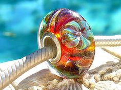OPAL JELLY FLOWERS Fully Lined Sterling Silver by beachlifebeads, $25.00