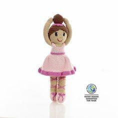 Crochet Pink Ballerina Doll