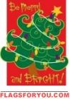 Applique - Merry & Bright House Flag Christmas Garden Flag, Party Flags, House Flags, Garden Flags, Merry And Bright, Applique, Decor, Decoration, Dekoration