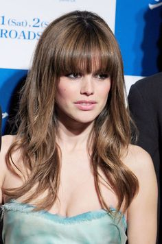 Rachel Bilson long hair swept bangs