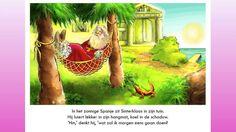 Sinterklaas vergeet bijna dat hij naar Nederland moet vertrekken! Duidelijk, eenvoudig prentenboek voor peuters en kleuters