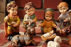 11 Piece Baby Jesus Nativity Set Scene Figures Polyresin Baby Jesus Christmas 2…