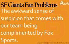 SF Giants Fan Problems: so true! Uhh puck you Joe Buck! My Giants, Giants Baseball, Sports Baseball, Sf Football, Joe Buck, 2014 World Series, Haha So True, Dodgers Fan, Buster Posey