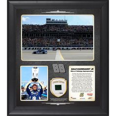Dale Earnhardt Jr. Fanatics Authentic 2015 Geico 500 at Talladega Superspeedway Race Winner Framed 15'' x 17'' Collage With Piece of Race-Used Tire - Limited Edition of 500