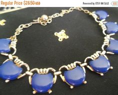 Cyber Monday Sale Vintage Blue Lucite 1950's Necklace Collectible Jewelry Mad Men Mod Rockabilly Accessories by MartiniMermaid on Etsy https://www.etsy.com/listing/126688187/cyber-monday-sale-vintage-blue-lucite