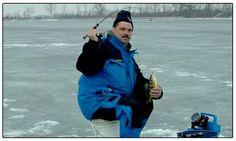 Ice fishing on Lake Erie. Winter, 2014.