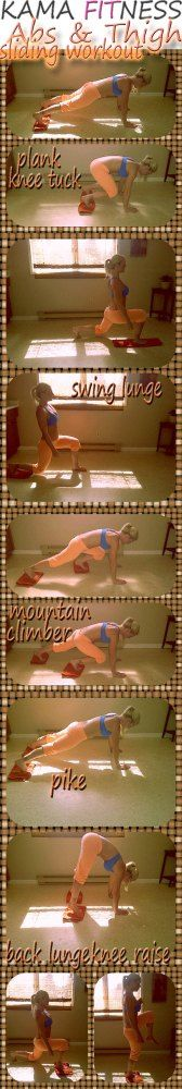 Abs & Thighs: Sliding Workout