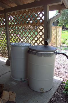 Rain Barrels- An Old Concept Made New. For more daily tips, join us on facebook https://www.facebook.com/thegardengeeks.  Excellent suggestions about rain barrels here--including safety of water from roofs.
