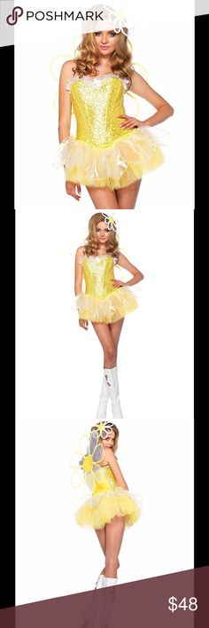 Leg Avenue- Daisy costume LED lights S-Adult Large Leg Avenue- Daisy Doll Halloween 4 pc costume LED lights Size Adult Large  Daisy Doll Halloween 4 pc costume LED lights Size Adult Large 4pc.daisy doll, Includes - corset, tutu, wings,headpiece with led Features: 100% Polyester Imported Hand Wash Quality materials used for all Leg Avenue products 100% designed and tested for the toughest situations and environments Whether you are a professional, recreational user, or even casual, Leg Avenue…