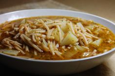 So glad it is still cool enough to make soup here is WA, I want this Sopa de Fideo, like right now.