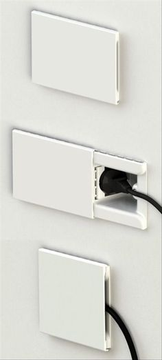 Recessed outlets wit