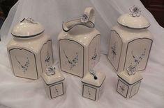 Entzückendes Vintage Vorratsbehälter und Wasserkrug( Villeroy & Boche ) 6 Teilig Villeroy, Sugar Bowl, Bowl Set, Jar, Vintage, Decor, Decoration, Vintage Comics, Decorating