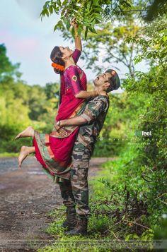 Military Girlfriend Quotes, Love Girlfriend, Military Couple Photography, Indian Wedding Couple Photography, Military Couple Pictures, Military Couples, Shri Hanuman, Durga Maa, Salute Indian Army