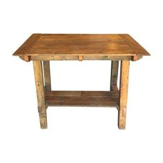 Pub Height Reclaimed Wood Table On Chairish.com