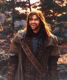 """Aidan Turner as Kili... This has given new meaning to 'have you tried this pin'? """"Well, no I haven't. But I'd definitely like to!"""""""
