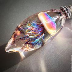 Купить Медуза VIP (Лола) . Кулон - кулон, медуза, авторские украшения, лемпворк, авторский кулон