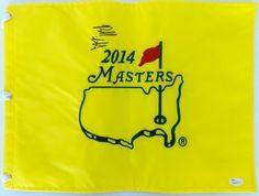 Bubba Watson Signed 2014 Masters Golf Flag JSA M66177