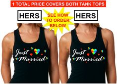 GAY WEDDING GIFT Hers and Hers Just Married Gay by ForeverLGBTQ