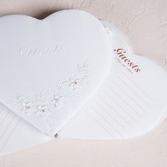 Floral Fantasy Heart Shaped Guest Book - #centerofattention #wedding #guestbooks