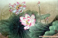 Chinese Lotus Paintings, China Lotus Art Scrolls, Pictures, Images