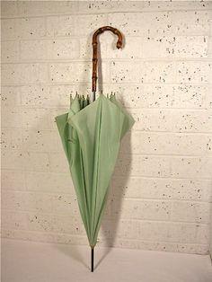 Vintage green umbrella!
