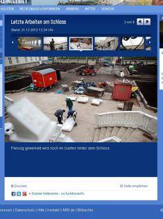 Letzte Arbeiten am Schloss NDR Bericht #Herrenhausen #Balustrade