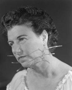 Peggy Guggenheim Wearing Alexander Calder earings