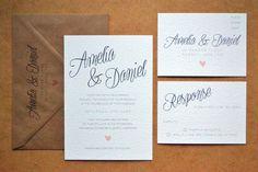 Wedding Invitation  NEW Calligraphy Script by AmysAvenueUK on Etsy