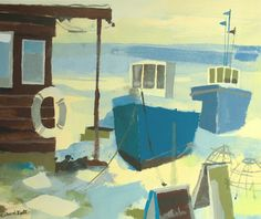Crabbers at Aldeburgh by Richard Tuff