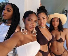 Black Girl Magic: Lori Harvey Jordyn Woods Ryan Destiny Normani and More Bask in Burberry Myra Swim and Chanel Bikinis in Jamaica Black Girls Rock, Black Girl Magic, Khloe Kardashian, Kylie Jenner, Lori Harvey, Tristan Thompson, Beautiful Black Girl, Family Photo Outfits, Black Girl Aesthetic