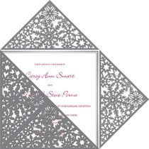 Emily Post Wedding Style Collection - Winter Wonderland Wedding Invitation