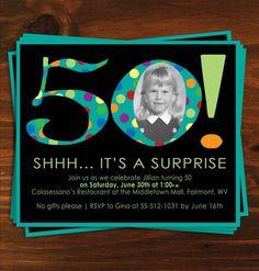 Mens Surprise 50th Birthday Party Invitations 50th Birthday