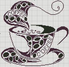 cross stitch coffee project