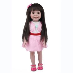 61.59$  Watch here - http://alisa7.worldwells.pw/go.php?t=32753348123 - 17inch Interactive Baby Dolls Full Plastic American Girls Dolls Silicone Vinyl Baby Reborn Dolls Magnetic Pacifier Kids Toys