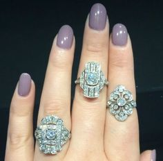 Some of our truly enchanting Edwardian favorites. Only at isadoras.com. #isdaorasaddict #diamondrings