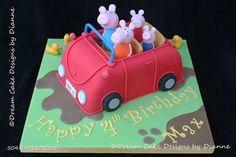 Image result for peppa pig car cake
