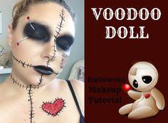 Voodoo Halloween Makeup, Diy Voodoo Doll Costume, Voodoo Doll Makeup, Haloween Makeup, Halloween Contacts, Facepaint Halloween, Costume Makeup, Diy Girls Costumes, Cute Couple Halloween Costumes